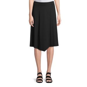 Eileen Fisher Jersey Faux Wrap Skirt Small